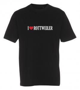 """T-shirt """"I Love"""" Rottweiler"""