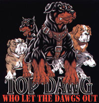 T-shirt med Rottweiler