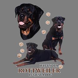 Figursydd t-shirt med Rottweiler