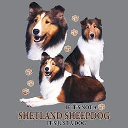 Figursydd t-shirt med Shetland Sheepdog