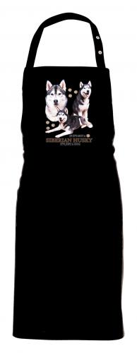 Grillförkläde med Siberian Husky