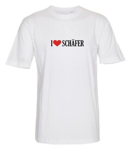"""T-shirt """"I Love"""" Schäfer"""