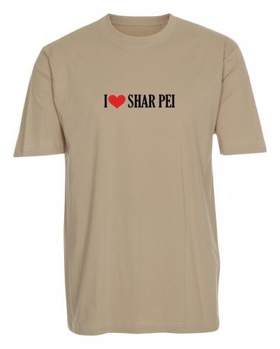 """T-shirt """"I Love"""" Shar Pei"""