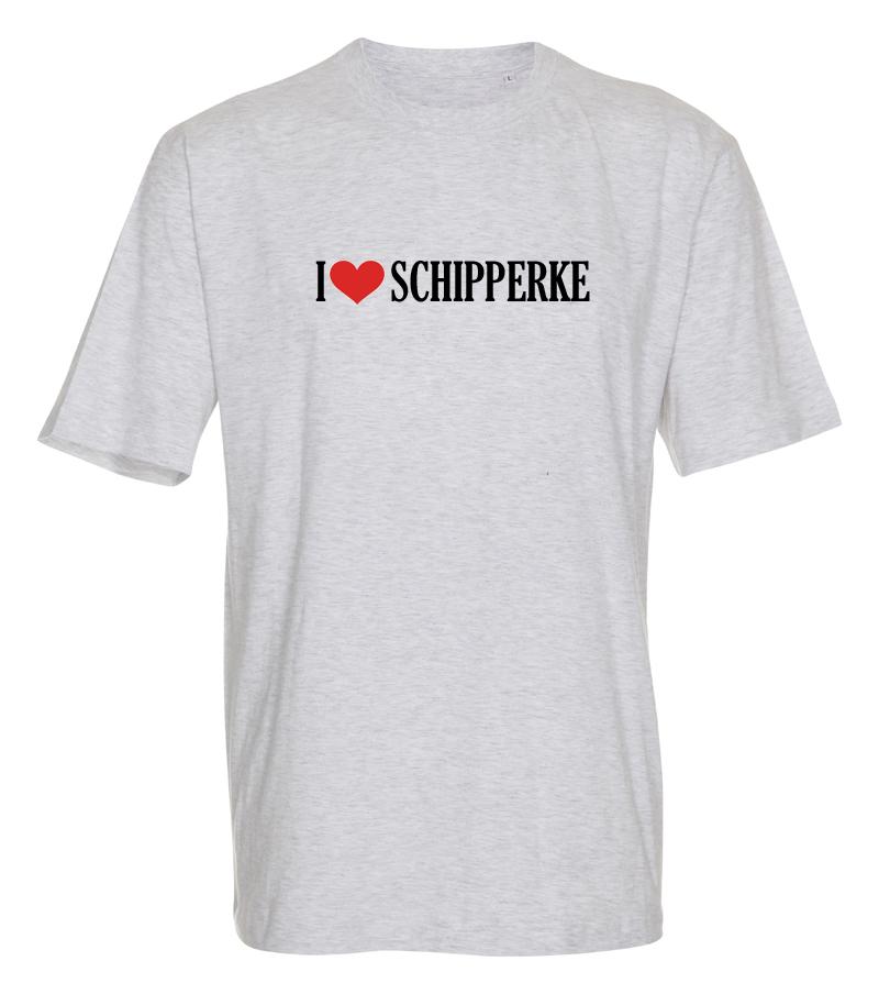 "T-shirt ""I Love"" Schipperke"