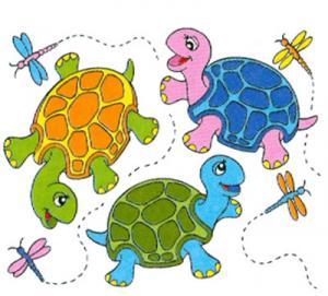 T-shirt i barnstorlek med sköldpaddor
