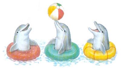 T-shirt i barnstorlek med delfiner