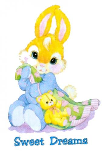 T-shirt i barnstorlek med kanin