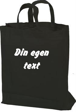 Tygkasse med egen text stil 1