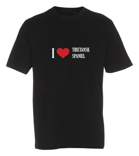 "T-shirt ""I Love"" Tibetansk Spaniel"