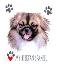 T-shirt i barnstorlek med Tibetansk Spaniel