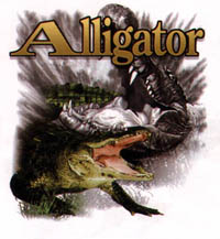 V-ringad t-shirt med Alligator