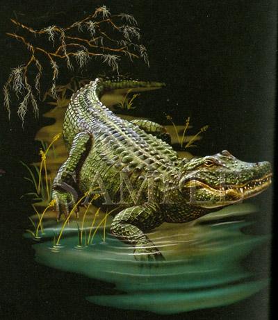 T-shirt med Alligator