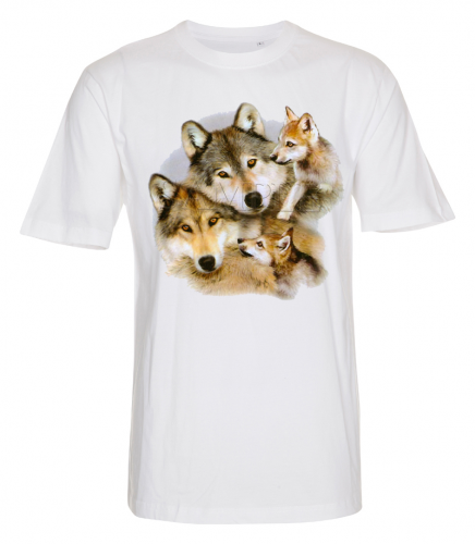 T-shirt with wolf