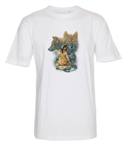 T-shirt med Varg och Indianmotiv