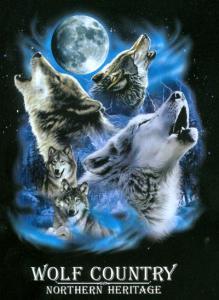 Figursydd T-shirt med vargmotiv