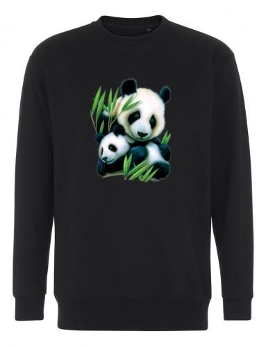 Collegetröja med Pandamotiv