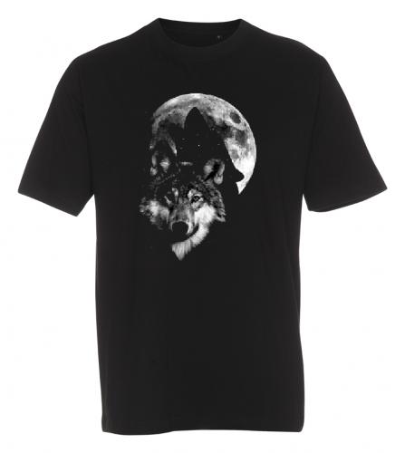 T-shirt med Vargmotiv