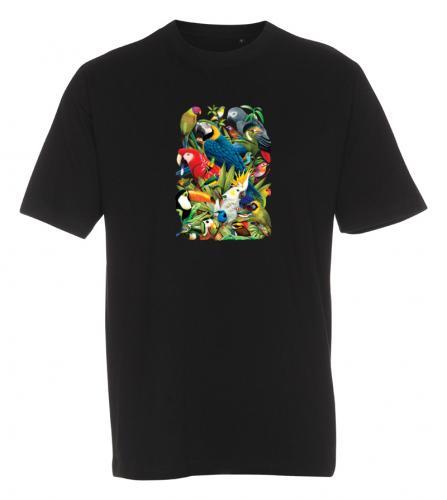 T-shirt med Papegojor