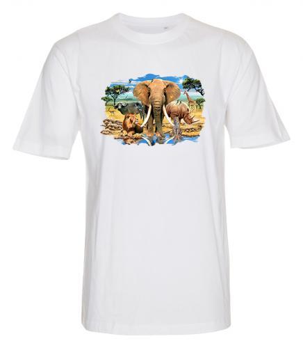 T-shirt i barnstorlek med Vilda djur