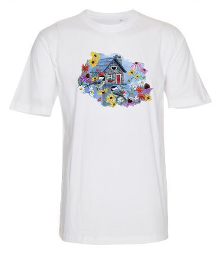 T-shirt med Fåglar o Blommor