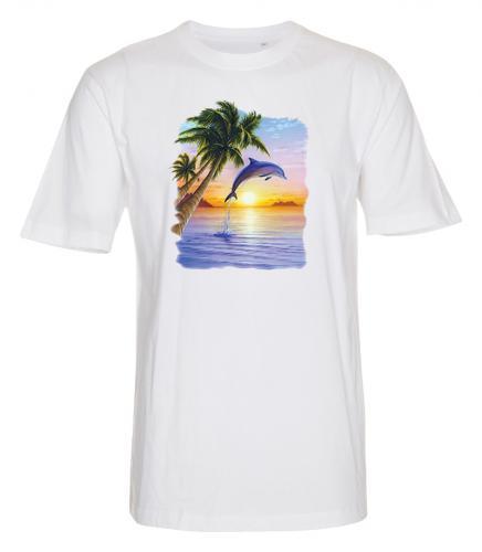T-shirt med Delfinmotiv