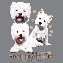 Huvjacka med West Highland White Terrier