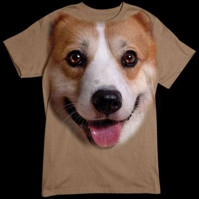 T-shirt med Welsh Corgi