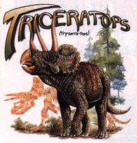 T-shirt med Triceratops