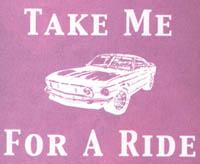T-shirt med bilmotiv