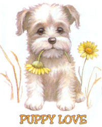 T-shirt med hundmotiv