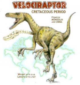 T-shirt med Velociraptor