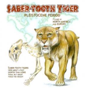 T-shirt med Sabeltandad Tiger