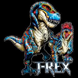 T-shirt i barnstorlek med T-rex