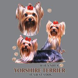 Huvjacka med Yorkshireterrier