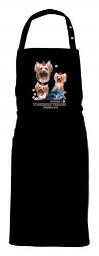 Grillförkläde med Yorkshireterrier