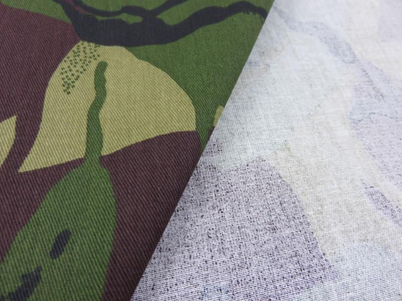 Kamouflagetwill grön/brun fram och baksida