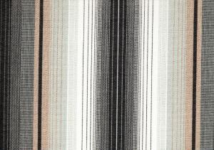 Awning Fabric stripe svart/grey/white