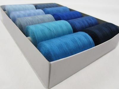 Thread Set blue (10 spools)