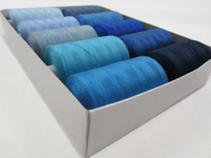 Trådpaket blå (10 rullar)