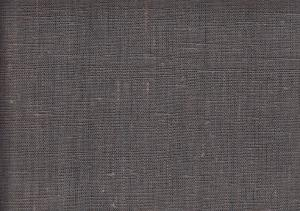 Pure Linen Fabric dark grey color 236