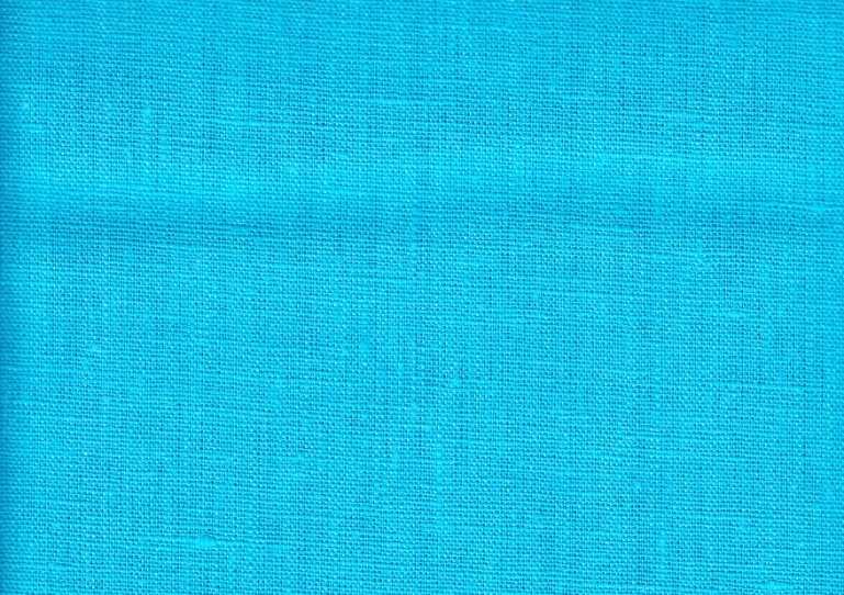 Pure Linen Fabric turquoise color 264