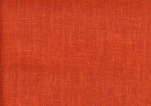 Pure Linen Fabric terracotta color 381