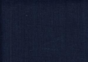 Pure Linen Fabric dark blue color 564