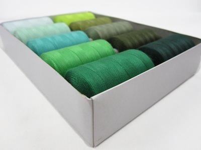 Thread Set green (10 spools)