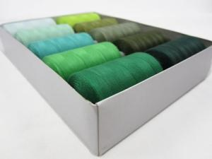 Trådpaket grön (10 rullar)