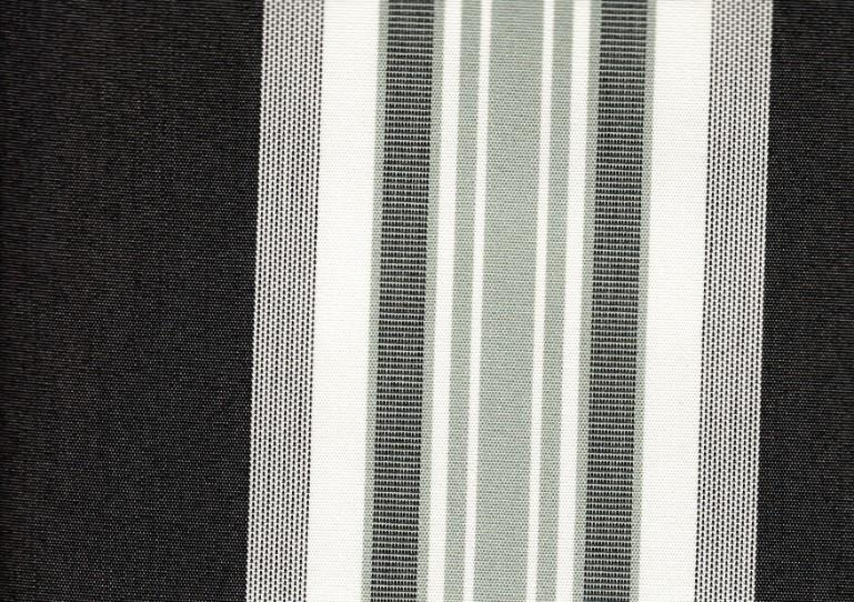 Markisväv randig svart/vit