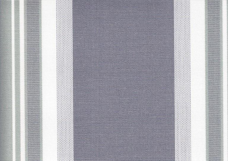 Markisväv randig grå/vit