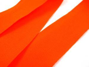 B004 Herringbone Cotton Tape 30 mm orange