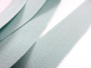 B006 Herringbone Twill Tape 25 mm light green (2nd sort)