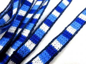 B095 Acrylic Ribbon 9 mm Stripes blue